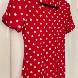 Vintage Dresses - CLEARANCE   VTG Polka Dot Slim Mini Dress